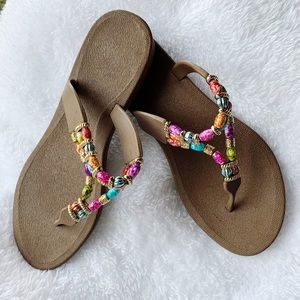 Pali Hawaii Thong Sandals With Bling Size 9